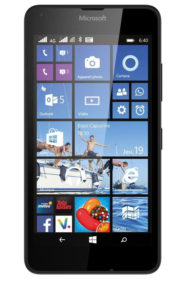 Smarpthone Microsoft Lumia 640 Double Sim  + étui folio noir Microsoft  + powerbank Nokia DC-19 + mini enceinte Coloud MD-1C (via ODR 30€)