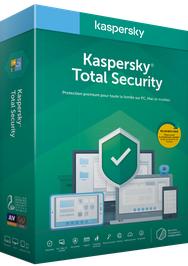 Licence pour l'antivirus Kaspersky Total Security 2019 - 1 an (1 Appareil - Dématérialisé)