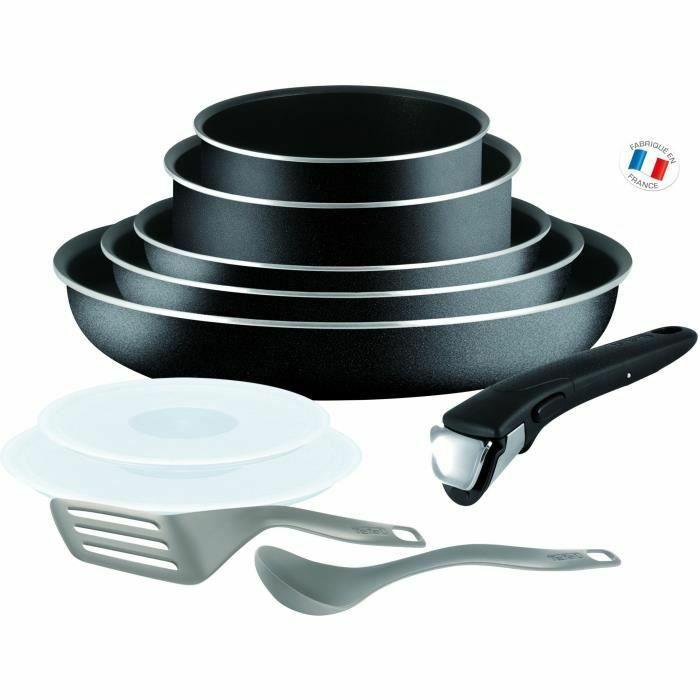 Batterie de cuisine 10 pièces Tefal Ingenio Essential  L2008902 - Tous feux sauf induction