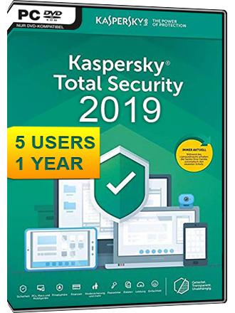 Licence Kaspersky total security pour 5 appareils - 1 an (Dématérialisé)