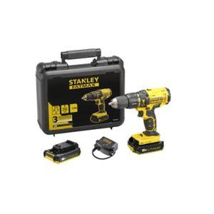 Perceuse Stanley FMC626D2K - 2 batteries 2.0Ah, chargeur, mallette