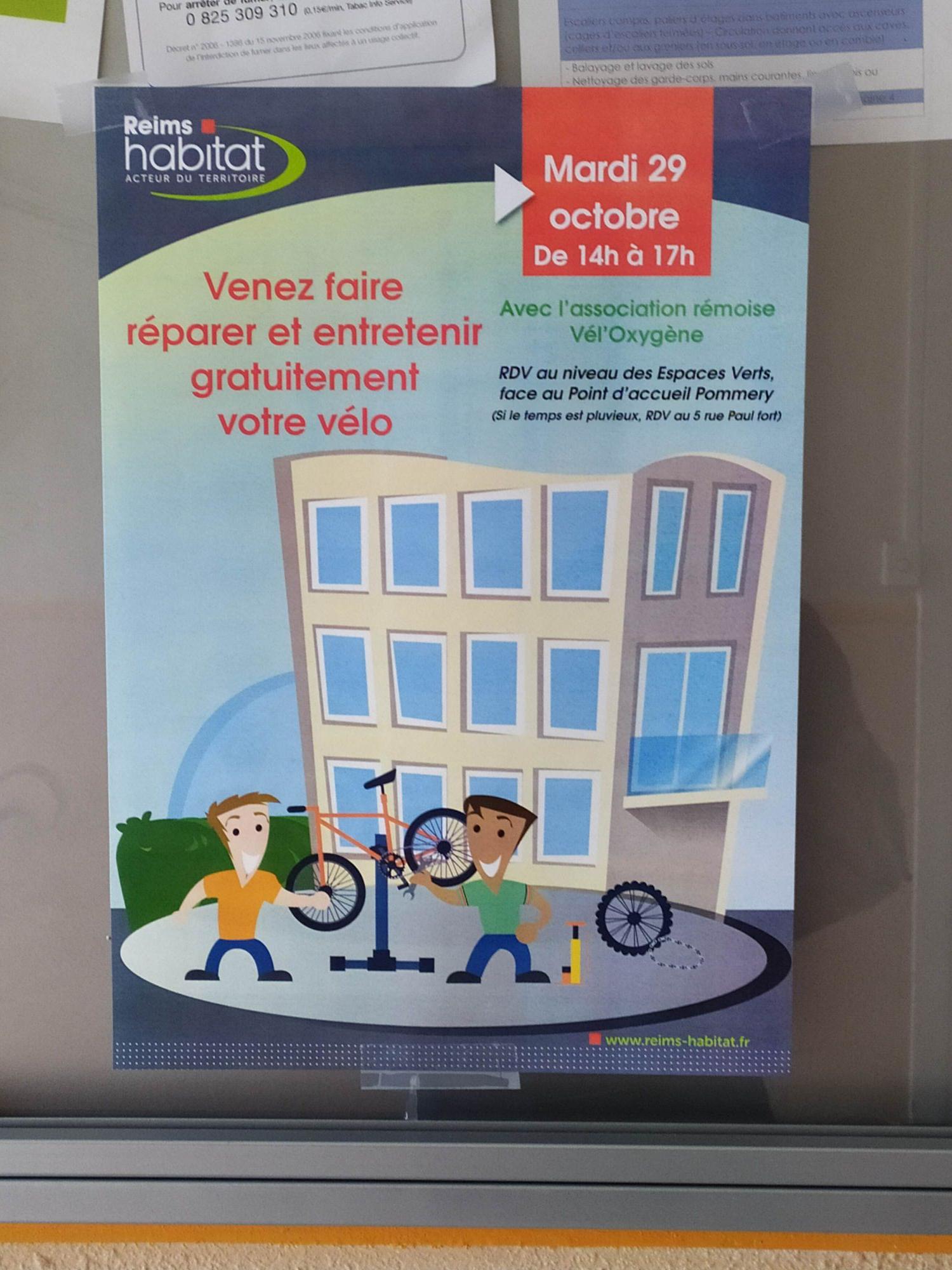 Réparation et entretient de son vélo gratuit - Reims (51)