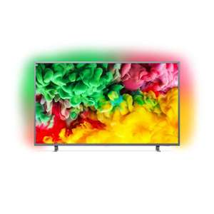 "TV 65"" Philips 65PUS6703 - LED, 4K UHD, HDR 10, Ambilight 3 côtés, Smart TV, 1100 PPI"