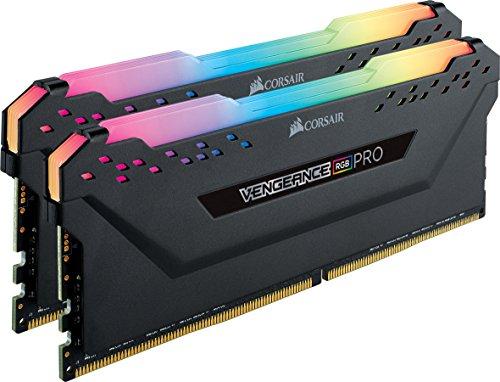 Kit Mémoire Corsair Vengeance RGB Pro 16Go (2x8Go) - DDR4, 3200MHz, C16, XMP 2.0