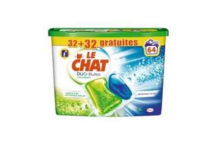 Lot de 64 dose de Lessive Le Chat Caps Duo Bulles