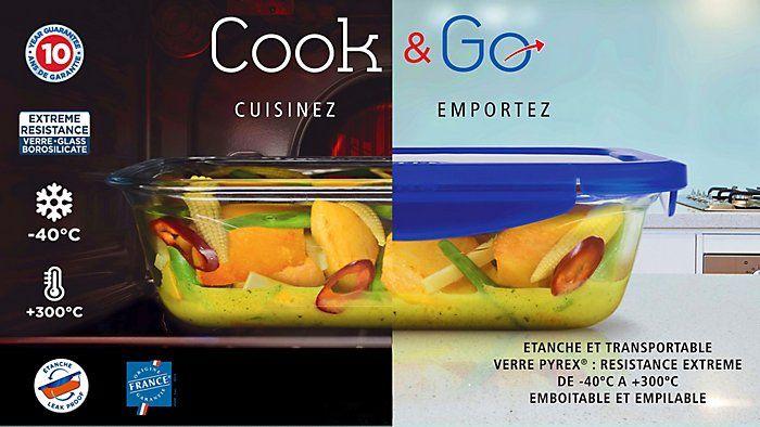 Set de 3 plats Pyrex Cook and Go