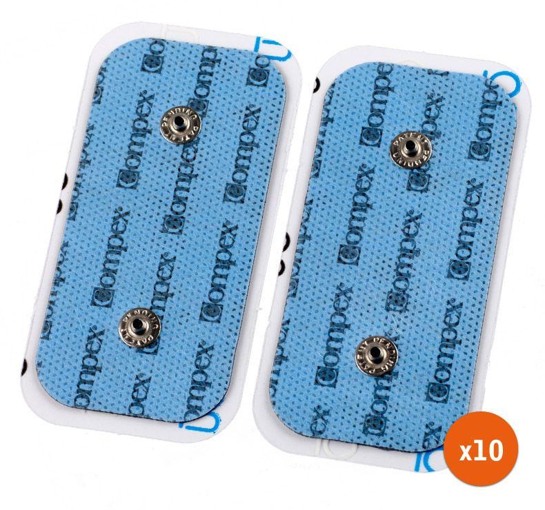 Pack 10 Jeux de 2 électrodes Compex SNAP 50x100 (fitnessdigital.fr)
