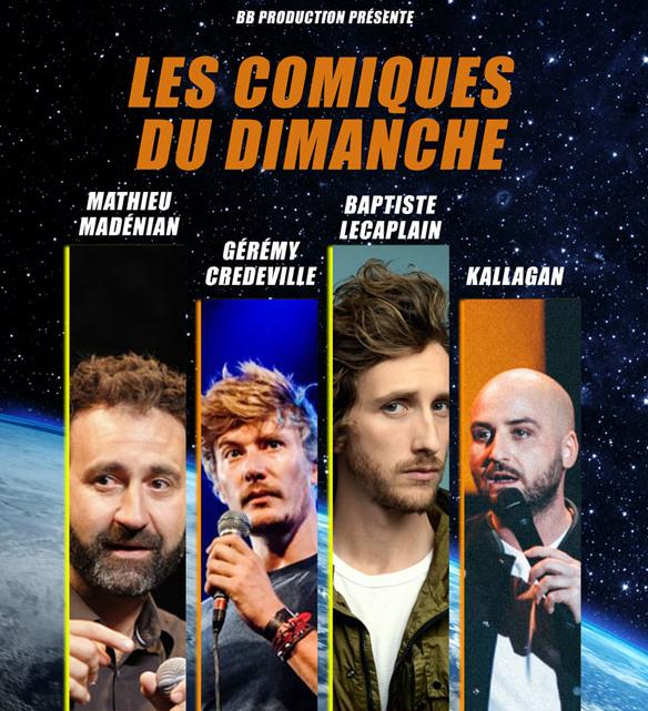 """Lot de 2 places pour le spectacle """"Les comiques du dimanche"""" avec Mathieu Madénian, Baptiste Lecaplain le dimanche 3 Novembre à Lyon (69)"""