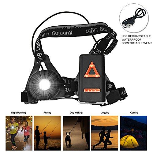 Lampe LED de sécurité Backture  - USB Rechargeable, 3 Modes Eclairage Sport (vendeur tiers)
