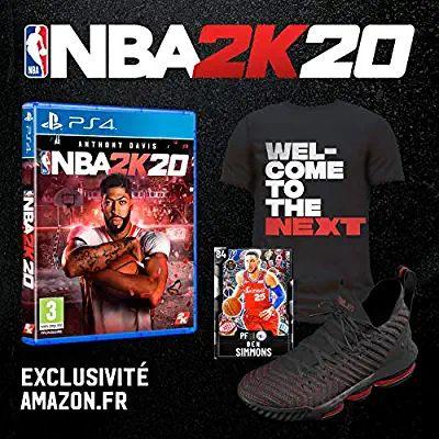NBA 2K20 + DLC Chaussures + T-Shirt + Carte (Dématérialisés) sur PS4