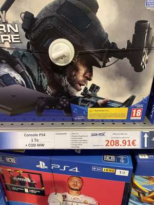 Bundle Pack Console PS4 (1 To) + COD : Modern Warfare + Casque gamer - Les Olonnes  (85)