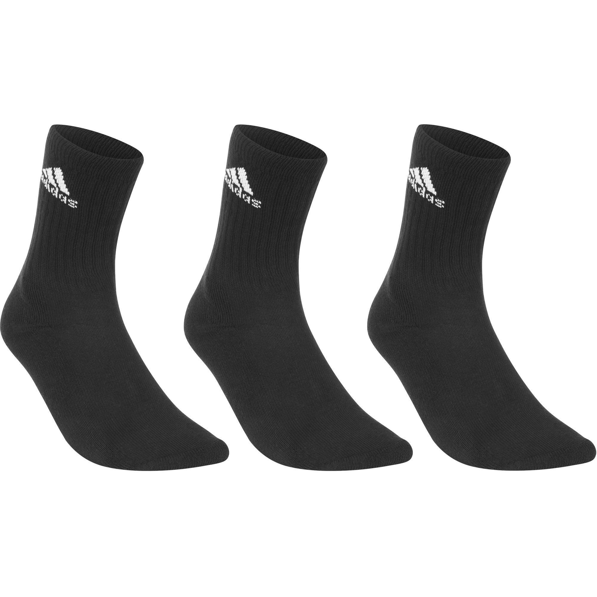 Lot de 3 paires de Chaussettes de Tennis Hautes Adidas Bacic - Taille 39-42