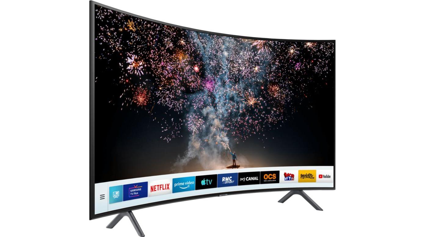 "TV 65"" Samsung UE65RU7305 - 4K UHD, HDR 10+, Incurvé, 1500 PQI, PurColor, Smart TV (Via ODR de 100€) + 45€ en SuperPoints"