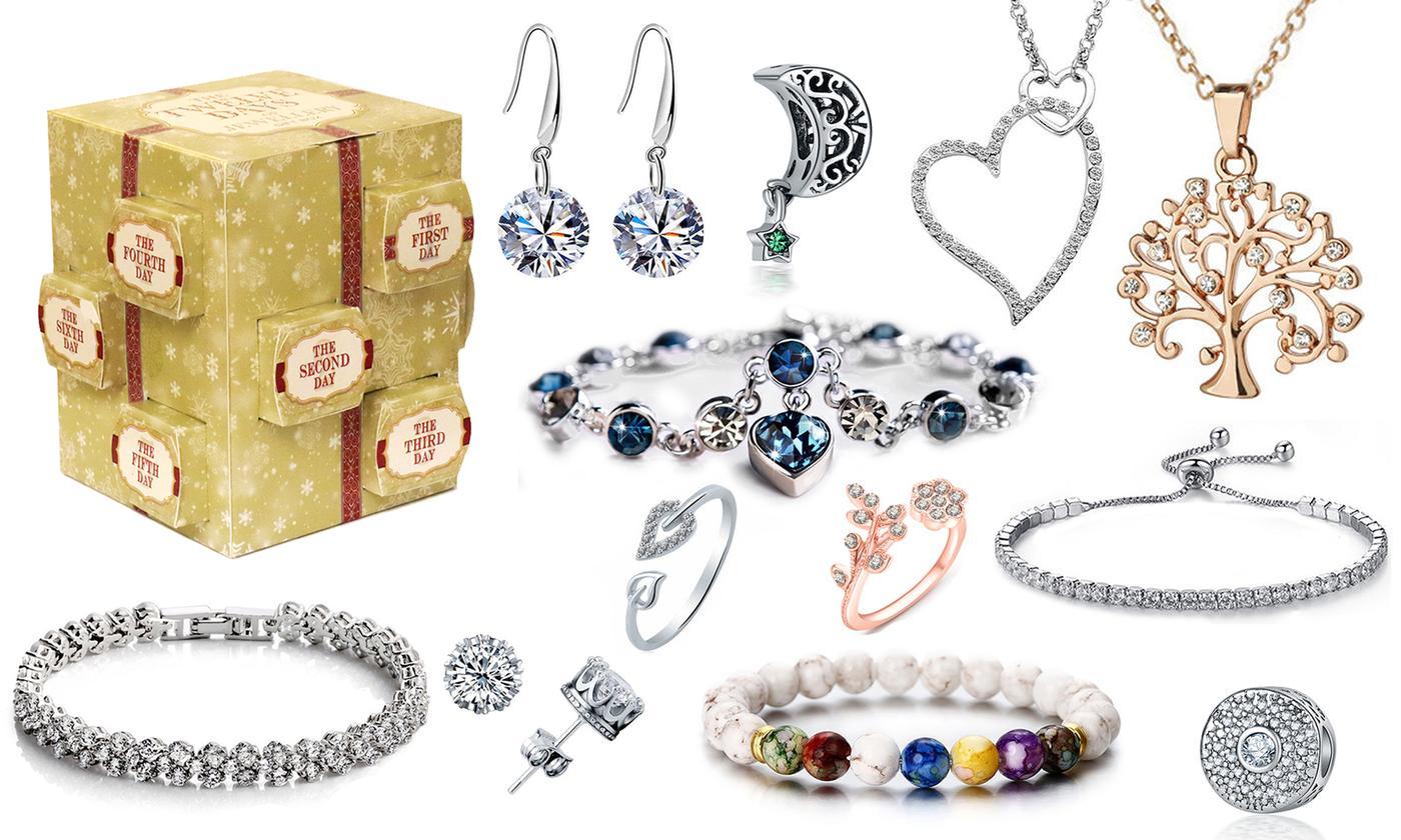 Coffret Cadeau de bijoux ornés de cristaux Swarovski