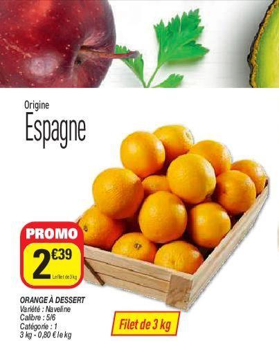 Sac d'oranges - 3Kgs (Origine Espagne)