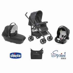 Poussette Chicco Trio Sprint Black Black Night