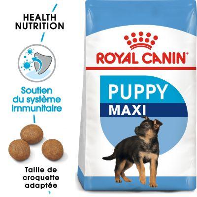 Lot de 2 sacs de croquettes pour chien Royal Canin Maxi Puppy / Junior (Bitiba.fr)