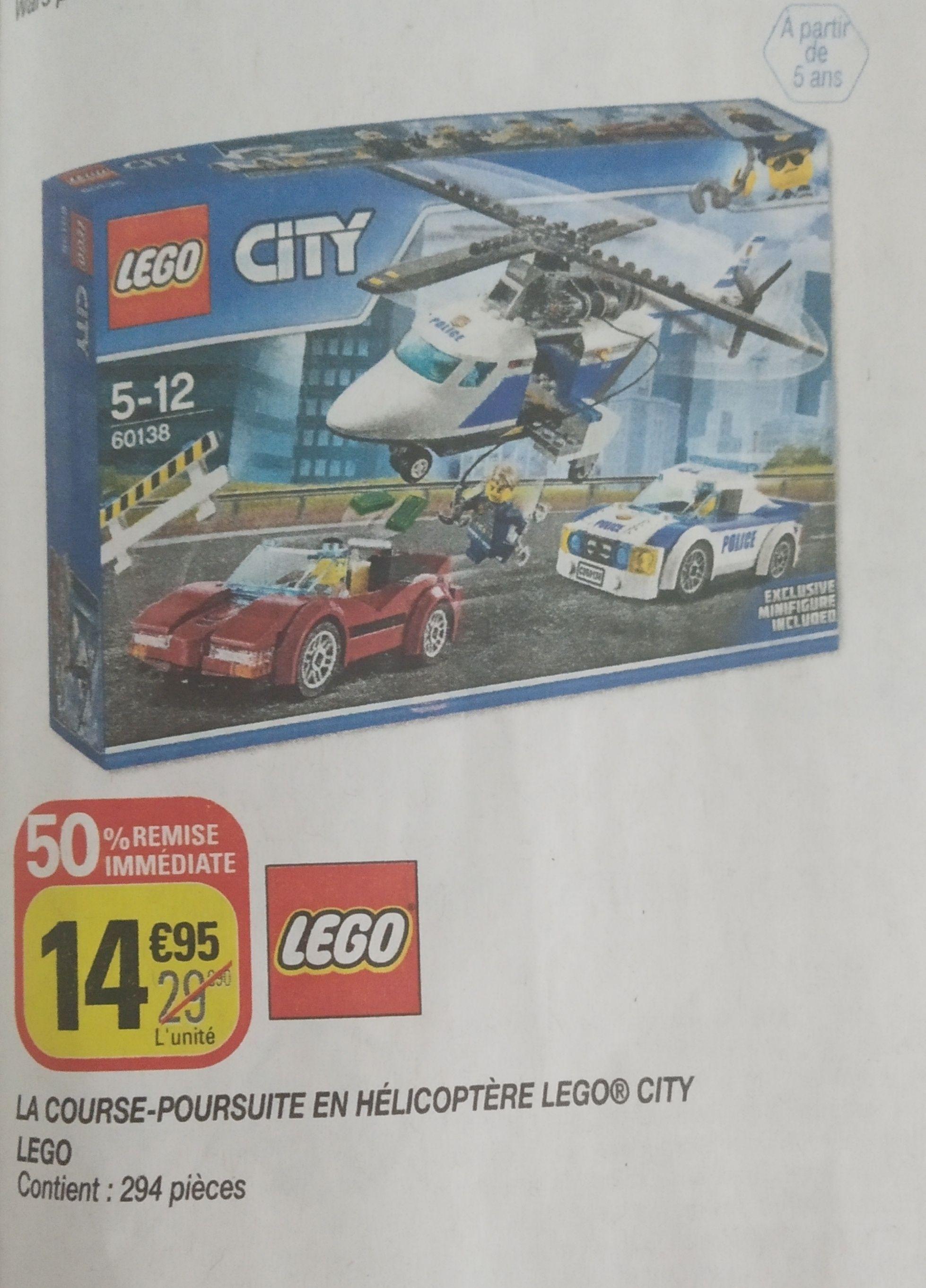 Jouet Lego City - La course-poursuite en hélicoptère (60138)