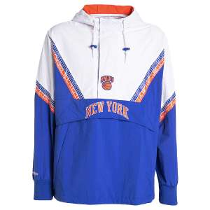 Veste Mitchell & Ness NBA Half Zip Team - Knicks de New York (du S au XXL)