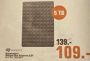 """Disque dur Externe 2.5"""" Seagate Expansion - 5To (Frontaliers Luxembourg)"""