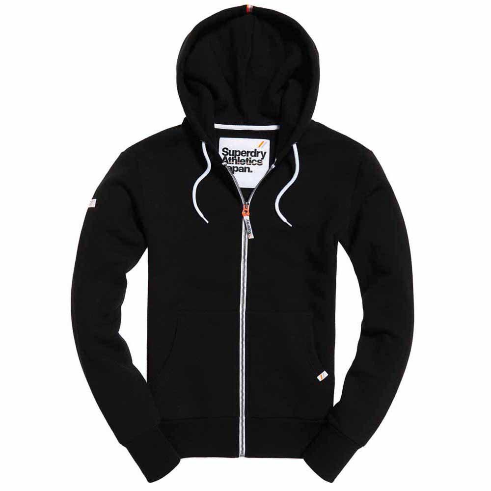 Veste à capuche zippée Superdry L.A. Athletics - Noir, Taille au Choix