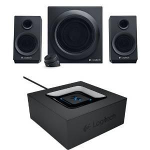 Enceintes PC 2.1 Logitech Z333 + Adaptateur Audio bluetooth