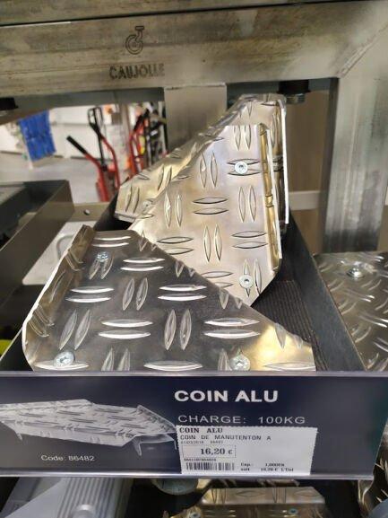 Coin de manutention en aluminium - Tridôme Marmande (47)