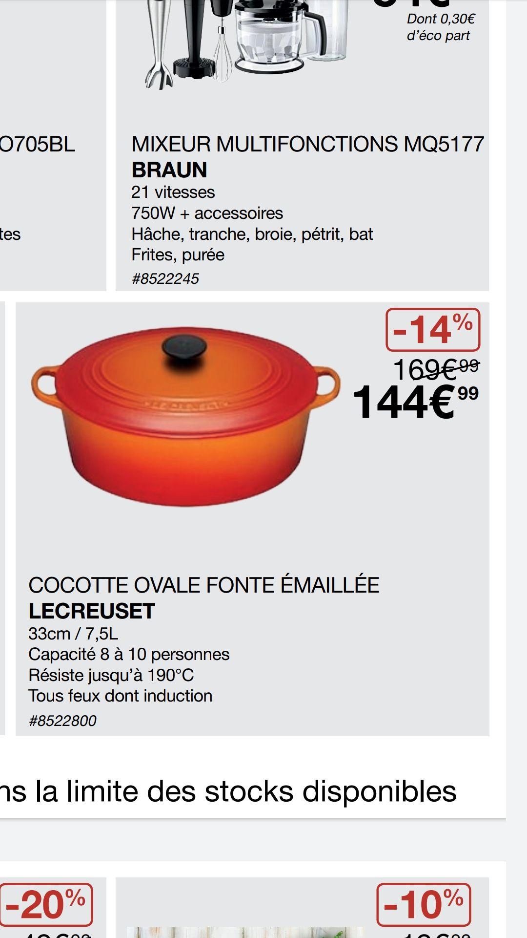 [Carte Costco] Cocotte ovale Le Creuset - 33 cm / 7,5L - Villebon-Sur-Yvette (91)