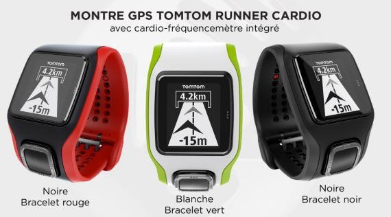 Montre Cardio GPS Runner TomTom - Plusieurs coloris