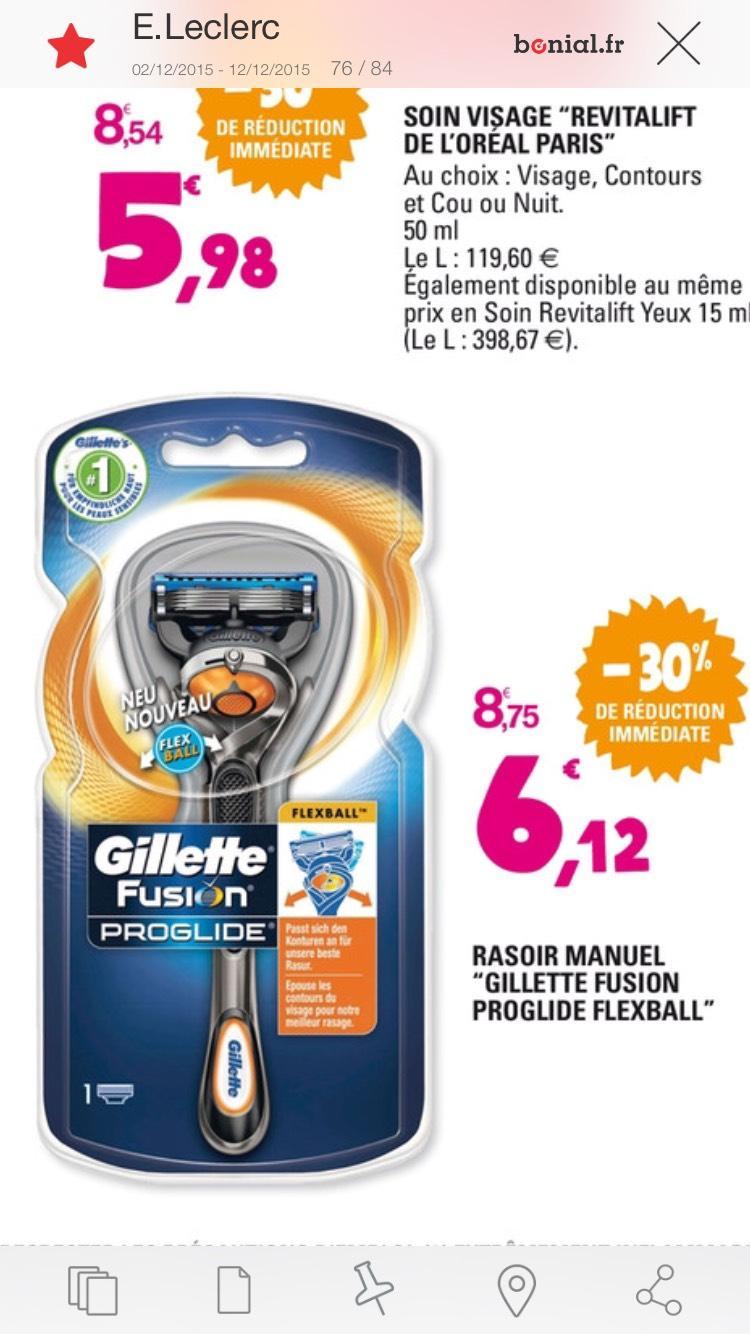 Rasoir manuel Gillette Fusion Proglide Flexball (2,50€ avec C-wallet)