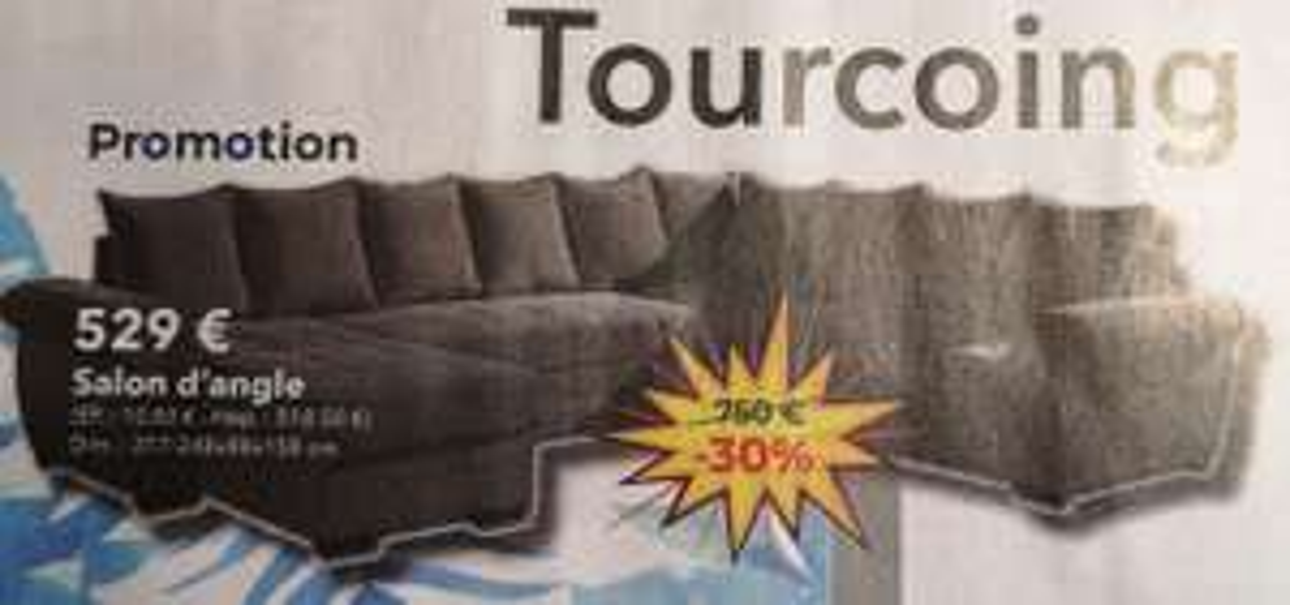 Sélection d'articles en promotion - Ex : Salon d'angle (Kreabel - Tourcoing 59)