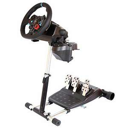 Support pliable, réglable et transportable pour volant de jeux vidéo Wheel Stand Pro Deluxe V2 pour Logitech