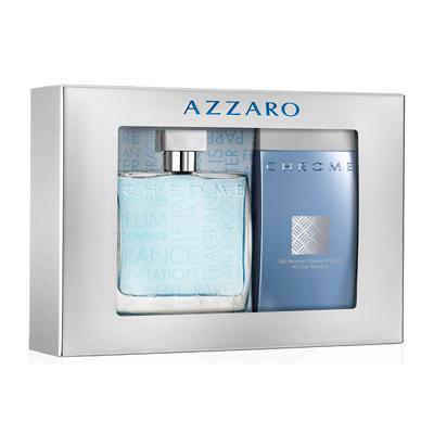 Coffret cadeau: Eau de toilette Chrome d'Azzaro - 100mL + Le shampoing de 200 mL