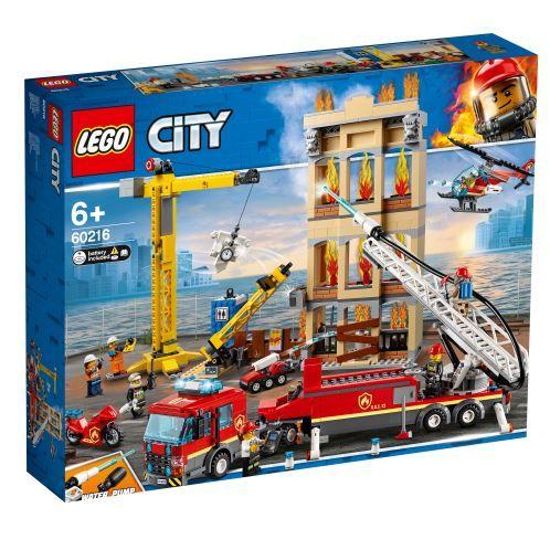 Jeu de construction Lego City 60216 - Les pompiers du centre-ville