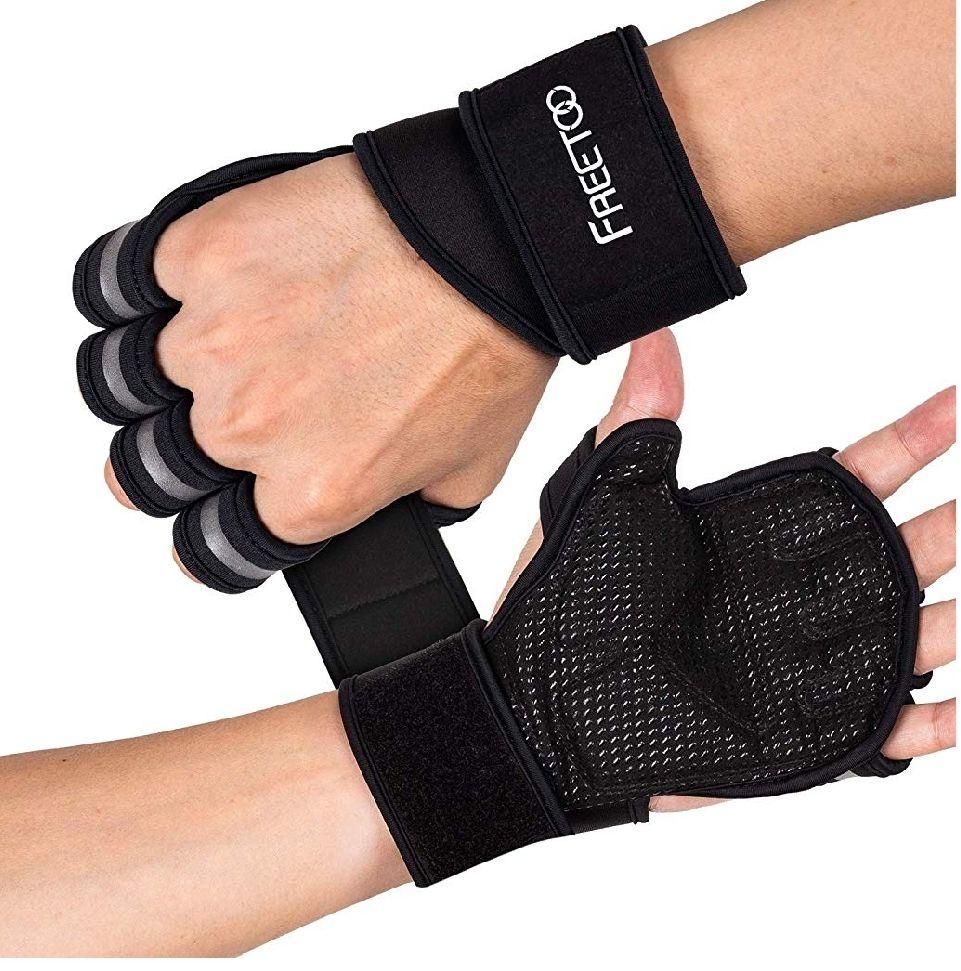 Gants de musculation Freetoo aérés avec soutien des poignets - Taille L (Vendeur Tiers)