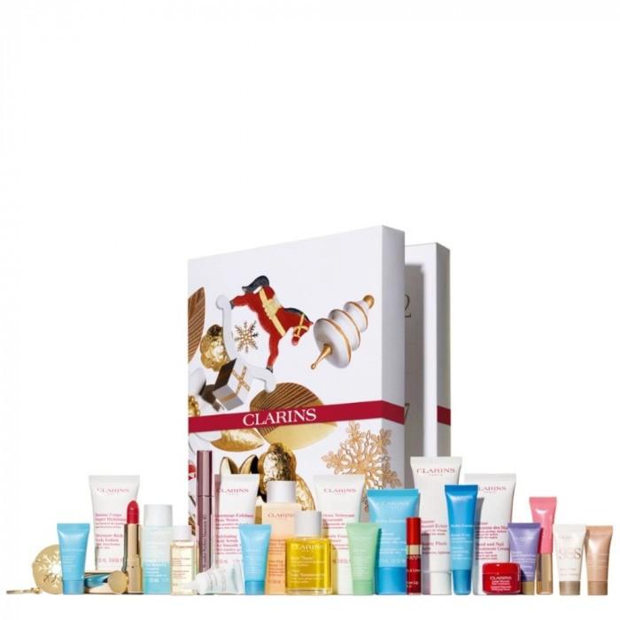 Calendrier de l'avent de produits beauté Clarins 24 cases