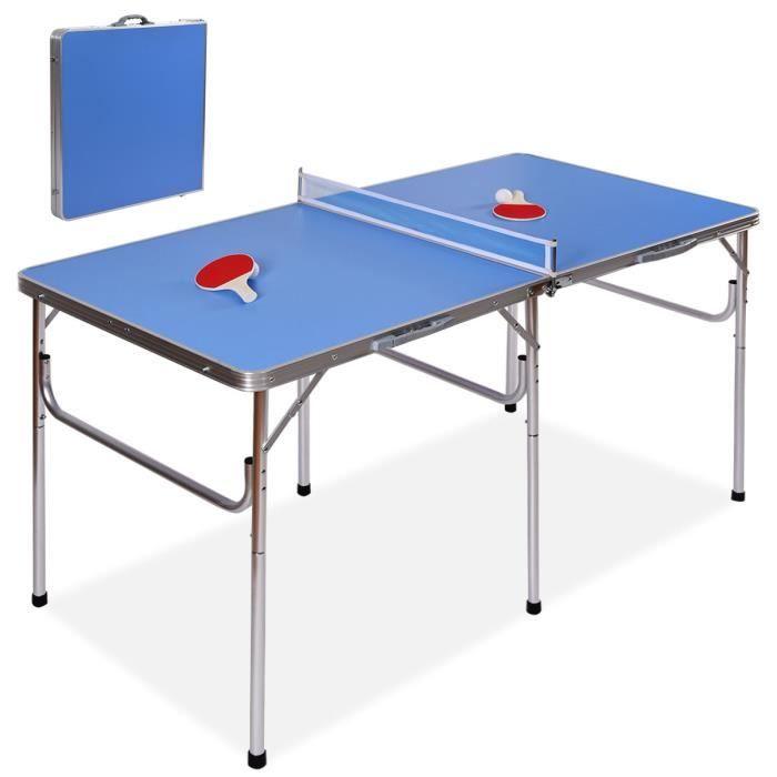 Table de tennis de table + 2 raquettes : 152, 4 x 76, 2 x 76, 2 cm (vendeur tiers)