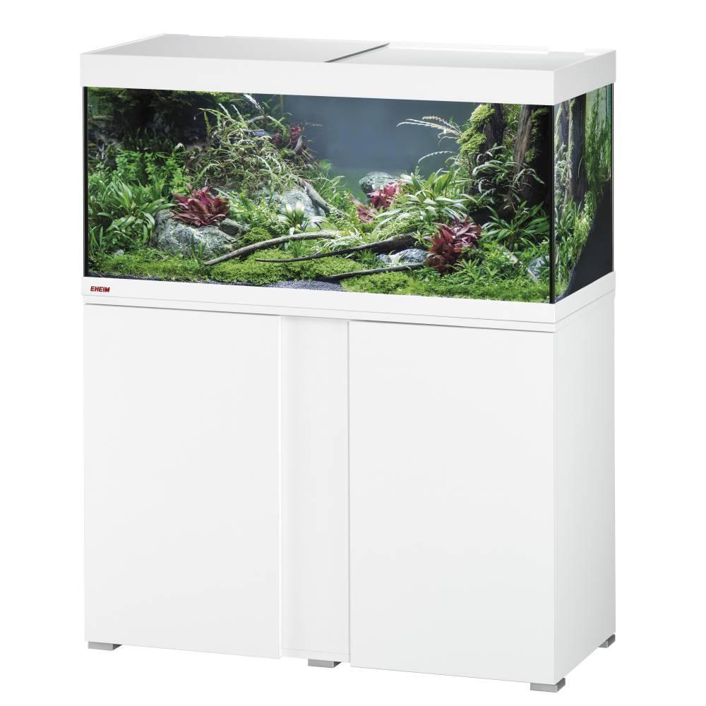 Aquarium Eheim équipé - 180L + Meuble 2 portes, blanc