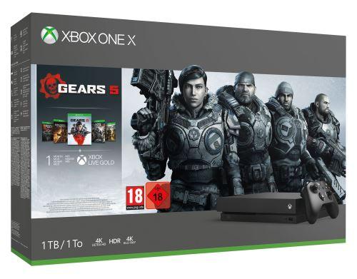 Pack console Microsoft Xbox One X (1 To) + Call of Duty: Modern Warfare + Gears 5