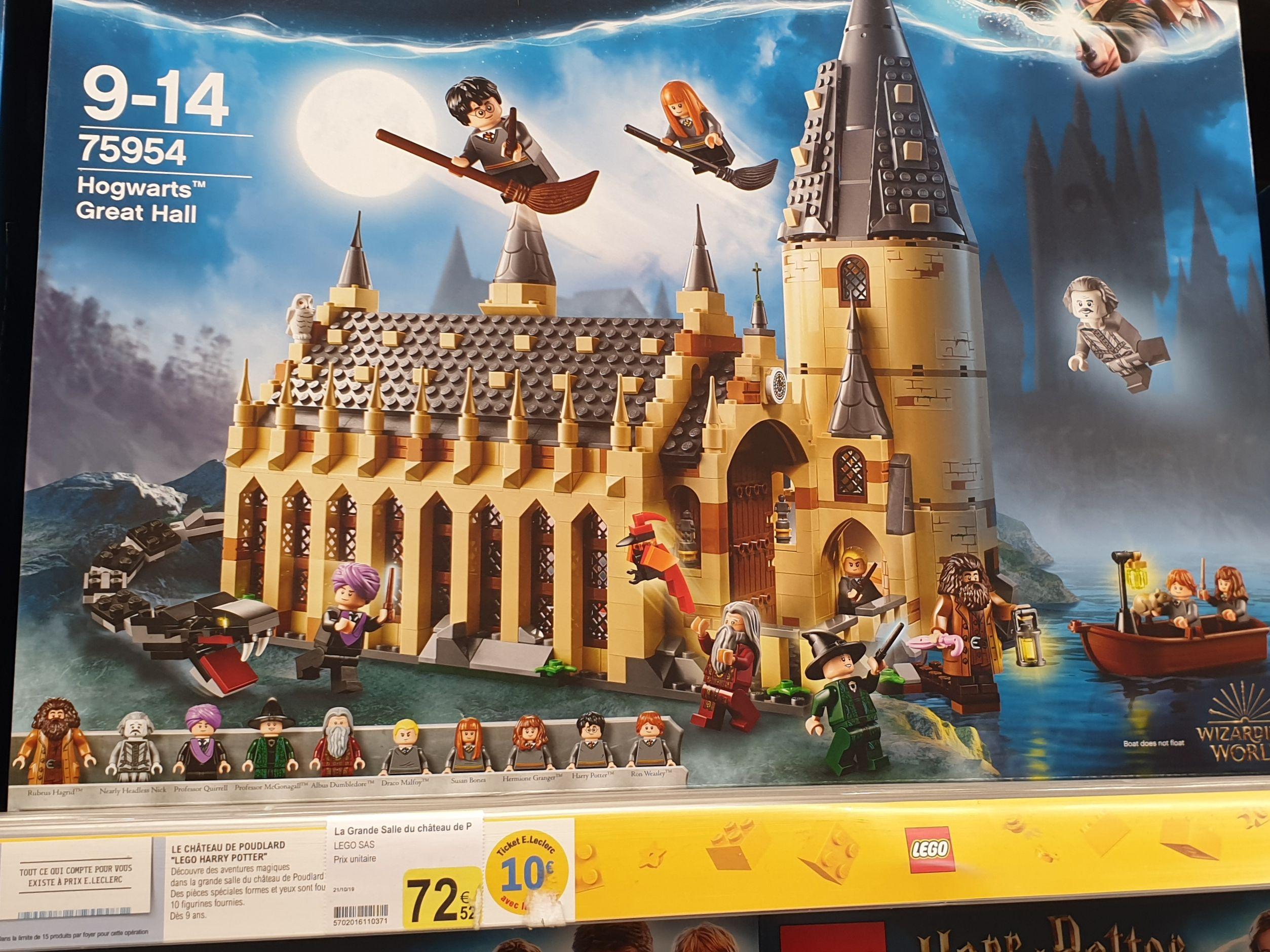 Jeu de construction Lego Harry Potter - Grande salle de Poudlard (via 10€ sur la carte fidélité) - Châteaulin (29)