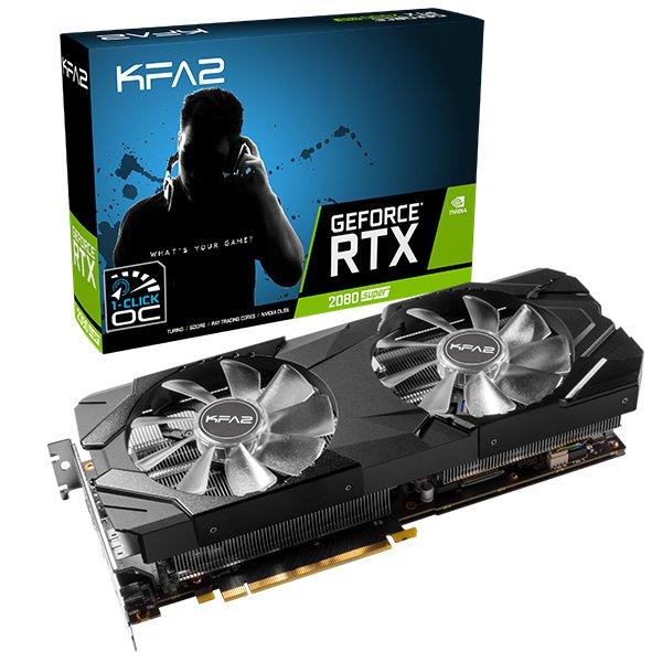 Carte graphique KFA2 RTX 2080 Super - EX 1-CLICK OC - 8 Go + 2 x 8 Go RAM DDR4 KFA2