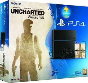 Console PS4 500Go + Uncharted : The Nathan Drake Collection + Abonnement PS Plus 3 mois