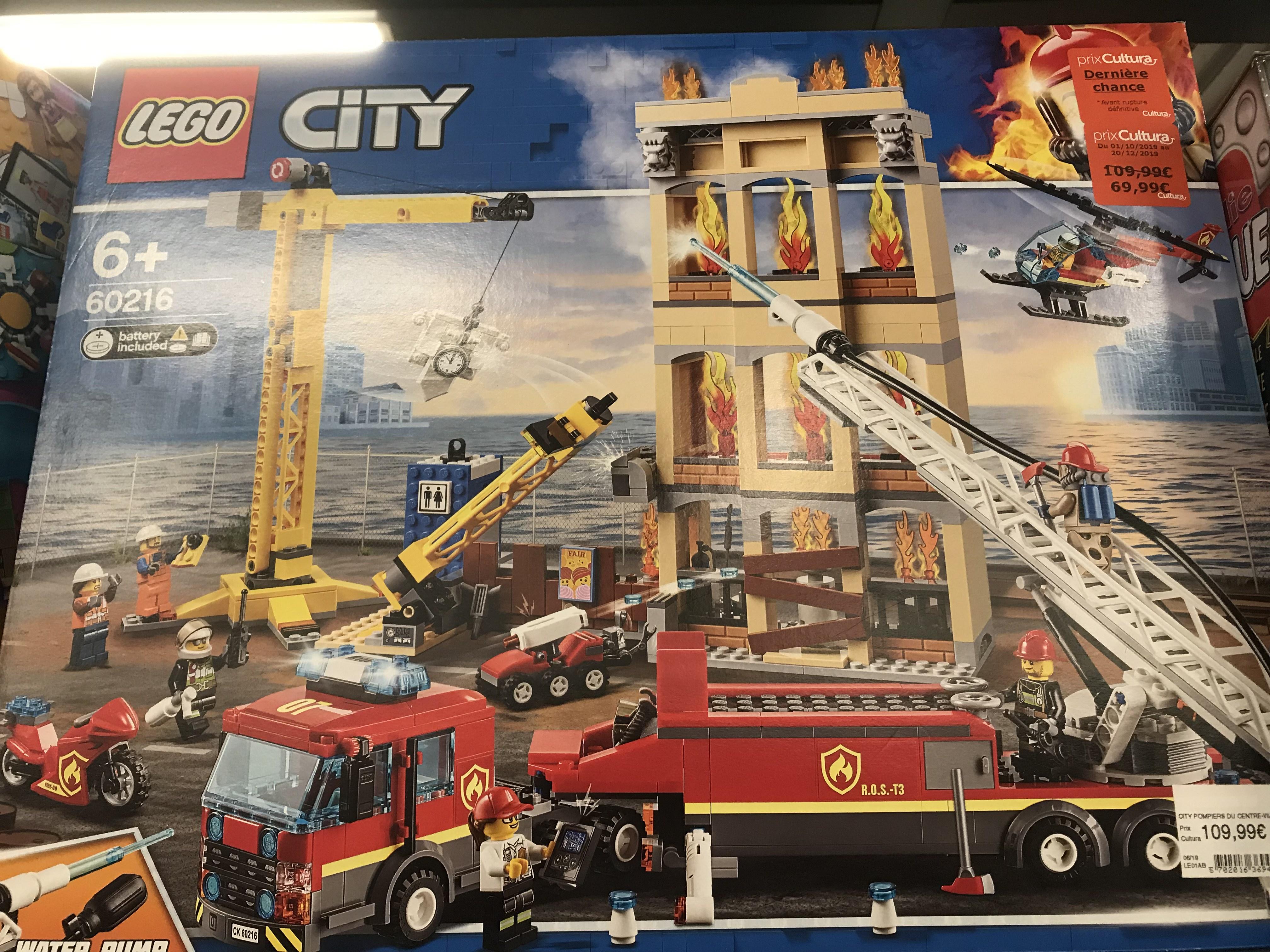 Lego City 60216 - Caserne de pompiers du centre ville - Mondeville (14)