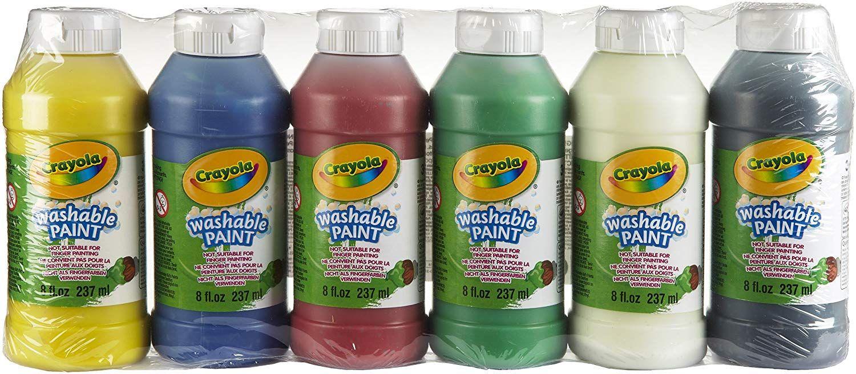 6 Bouteilles de peinture lavable Crayola - Peinture et accessoires (256315.004)