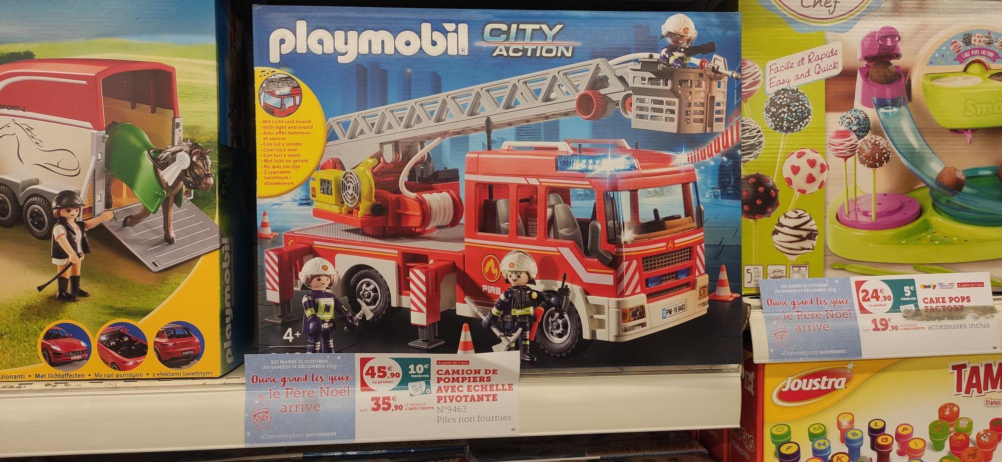 Camion grande échelle Playmobil 9463 (via 10€ sur carte fidélité)