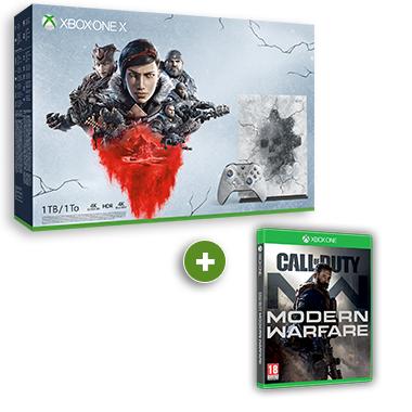 100€ de réduction sur les packs Xbox One X + Un jeu au choix parmi une sélection - Ex : Pack Gears 5 + Call of Duty: Modern Warfare