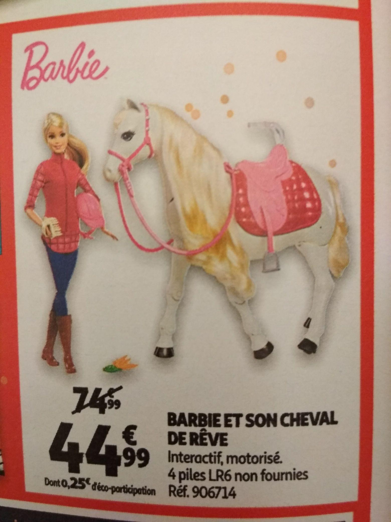 Jouet Barbie et son cheval de rêve - Auchan Chasseneuil-du-Poitou (86)