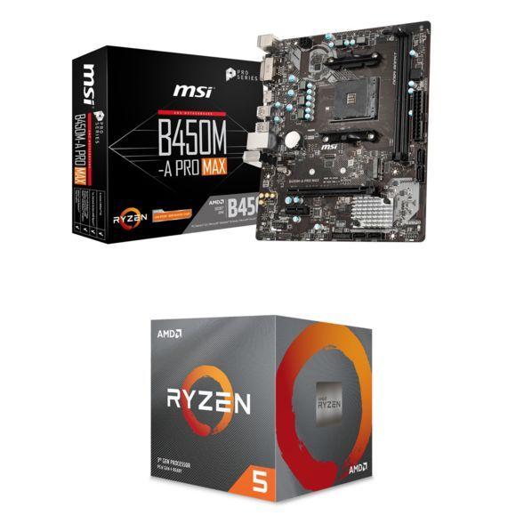 Kit Evo Processeur Ryzen 3600 + Carte Mère MSI B450M A Pro Max