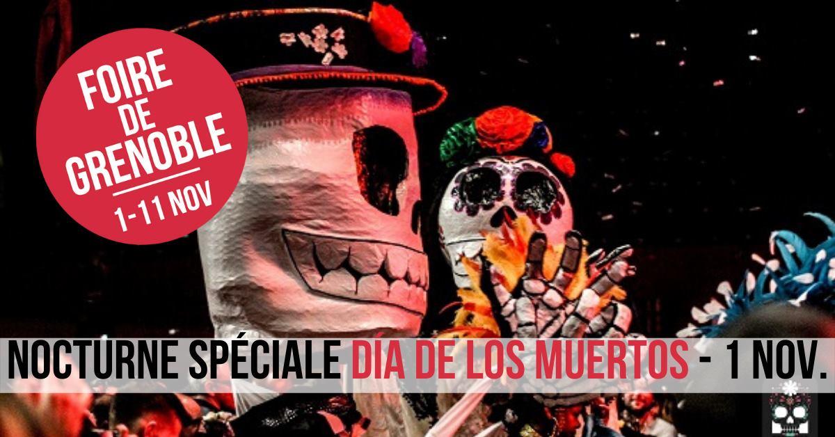 """Entrée gratuite à la Foire de Grenoble pour le spectacle nocturne """"Día De Los Muertos"""" - Grenoble (38)"""