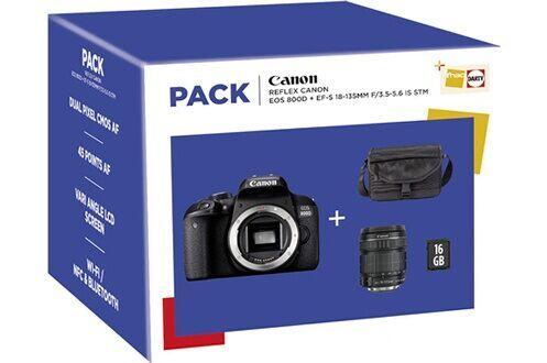 Pack Appareil Photo Reflex Canon EOS 800D + Objectif 18-135MM F/3.5-5.6 + Sacoche - Villebon (91)